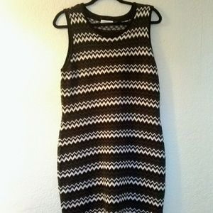 Calvin Klein Chevron striped sweater dress